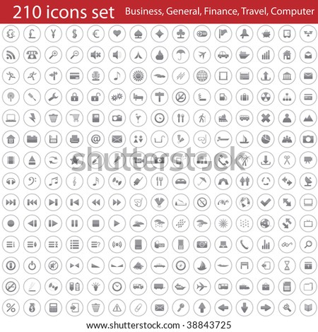 Biggest collection of different icons for using in web design
