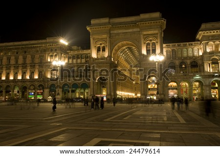 biggest shopping mall in italy - stock photo