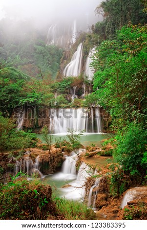 Biggest waterfall of Thailand, Thi Lo su - stock photo