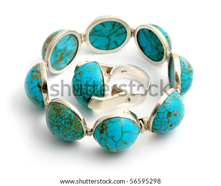 Bijouterie - Bracelet and ring - stock photo