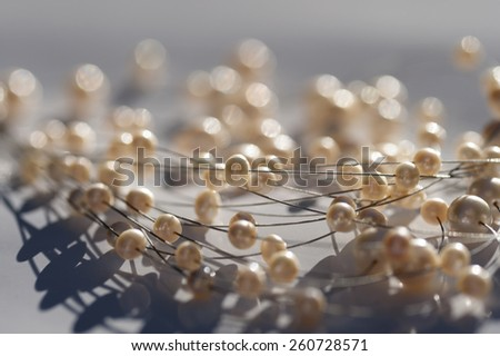 Bijouterie - pearls as a decoration - stock photo