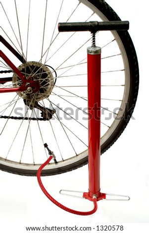 bike and air pump