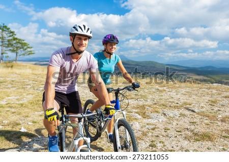 Bike, biking, cyclist. - stock photo