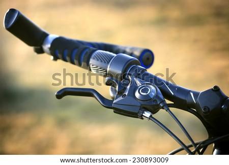 Bike brake grip. Soft photo - stock photo