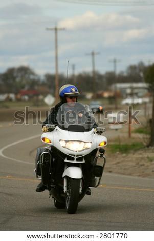 bike cop - stock photo