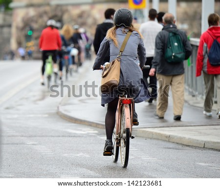 Bike crowd - stock photo