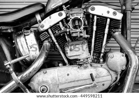 bike engine with monochrome style.