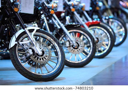 bike exhibition - stock photo
