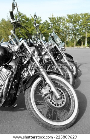 Bike exhibition, outdoors - stock photo