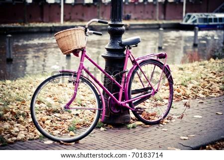 bike in amsterdam - stock photo