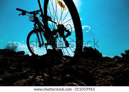 bike in sunny day. - stock photo