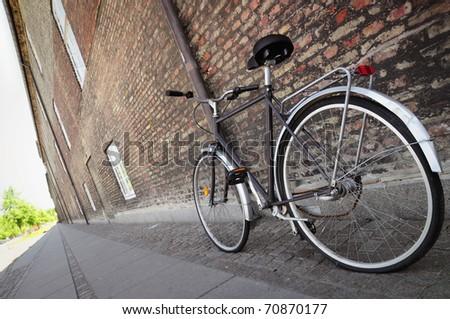bike in the city - stock photo