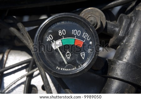 Bike indicator, closer view