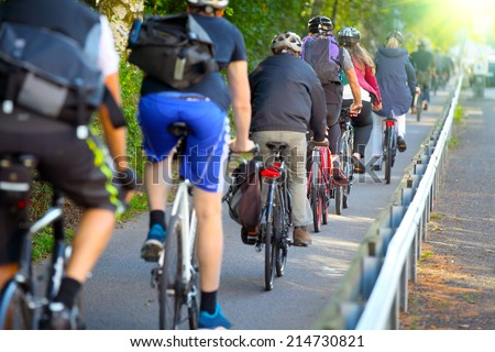 Bike lane - stock photo