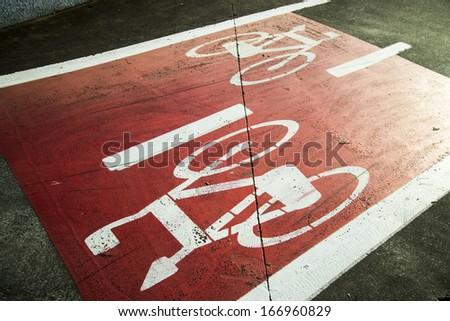 Bike lane. Cycle path - stock photo