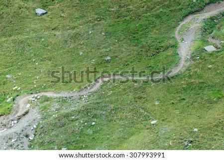 Bike path for downhill - stock photo