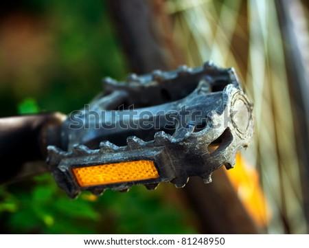 Bike pedal close up - stock photo