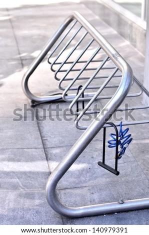 Bike rack portrait - stock photo