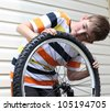 Bike repair - stock photo