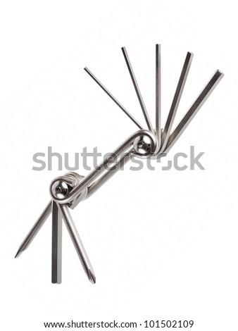 Bike repair tool key isolated on white background - stock photo