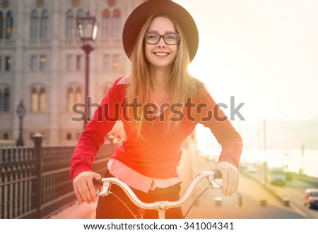 Bike ride in Budapest - stock photo
