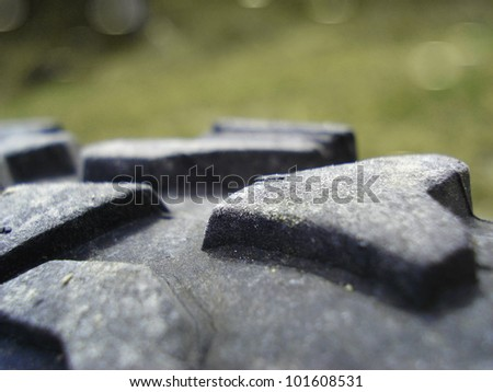 Bike tire - stock photo