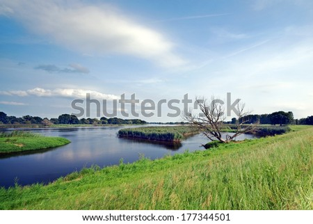Bike Tour Oder region, Brandenburg, Germany - stock photo