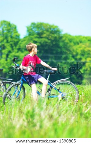 Bike trip - stock photo
