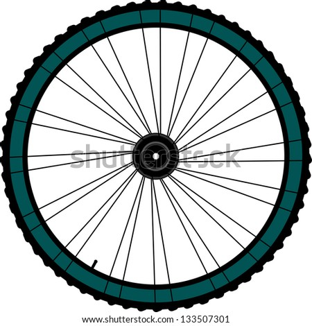 Bike wheel - illustration on white background, raster