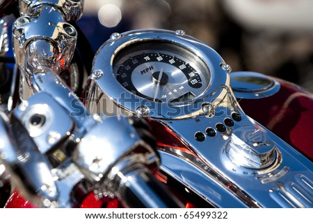 biker bikeweek harley davidson motorcycle - stock photo