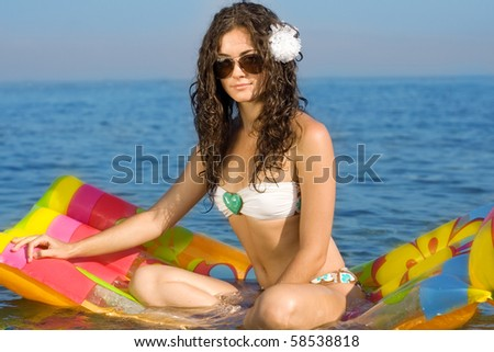 Bikini girl with inflatable
