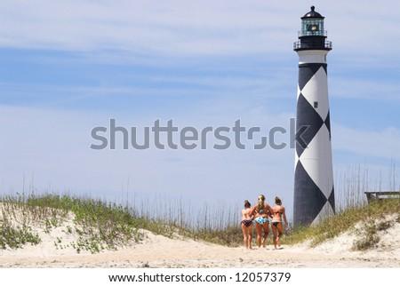 Bikini Lighthouse - stock photo