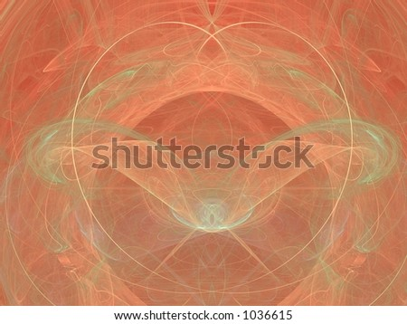 Bilateral abstract in soft orange, very detailed, best viewed full size - stock photo