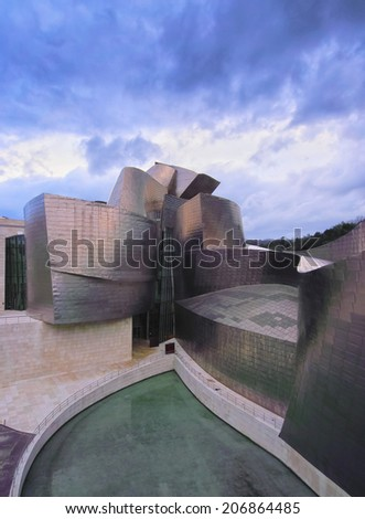 BILBAO, SPAIN - MARCH 11, 2013: The Guggenheim Museum in Bilbao, Biscay, Basque Country, Spain