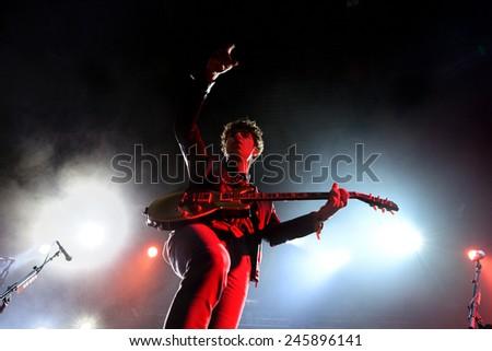 BILBAO, SPAIN - NOV 01: The Kooks (band) live music show at Bime Festival on November 01, 2014 in Bilbao, Spain. - stock photo