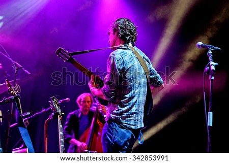 BILBAO, SPAIN - OCT 31: The Barr Brothers (band) live performance at Bime Festival on October 31, 2014 in Bilbao, Spain.