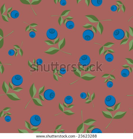 Bilberry seamless background pattern - stock photo
