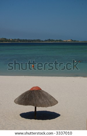 Bilene beach in mozambique - stock photo