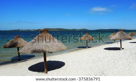 Bilene beach,Mozambique - stock photo