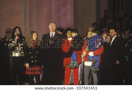 Bill Clinton, 42nd President, at Inauguration Day celebration January 20, 1993 in Washington, DC - stock photo