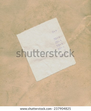 bill or receipt isolated over black background - stock photo