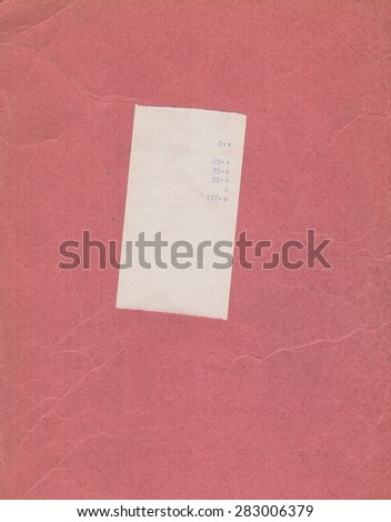 bill or receipt isolated over pink background - stock photo