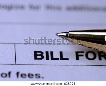 Bill payment - stock photo