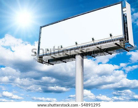 Billboard a Huge Space - stock photo