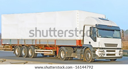 "billboard ads ready truck -  of ""Trucks"" multiple series in studio's portfolio - stock photo"