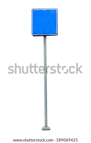 Billboard, banner, empty place for ad isolated on white background. - stock photo