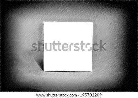 billboard blank white - drawing style - stock photo