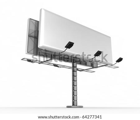 Billboard - 3d render - stock photo