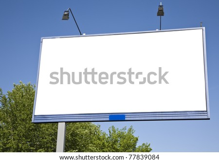 Billboard empty - stock photo