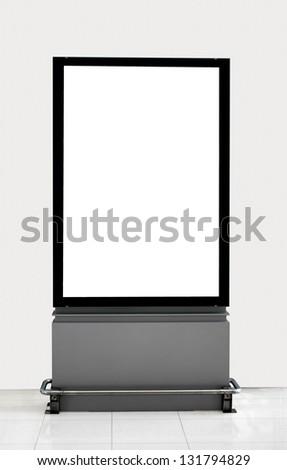 billboard empty in building - stock photo